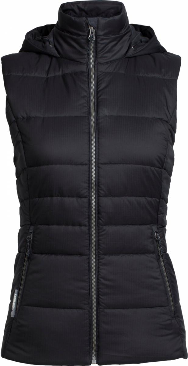 Wmns Stratus X Hooded Vest Black HTHR