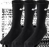 3PPK VALUE COTTON CREW-SMLX BLACK/WHITE-PINK POW