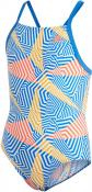 YA SWIMSUIT CBLACK/BLUE/FTWWHT