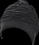 Damen-Stoffhauben, große Kopfform schwarz