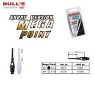 BULL'S Mega Point Tips, kurz 6 mm SCHWARZ
