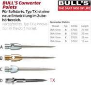 BULL'S Stahlspitzen KP 2BA FARBIG SILBER