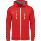 hmlAUTHENTIC POLY ZIP HOODIE TRUE RED