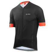 M BIKE JERSEY HZ HOTBOND RF black/ pumpkin