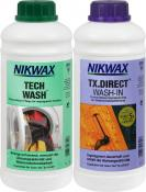 Nikwax 2x 1l Tech Wash+TX Direct