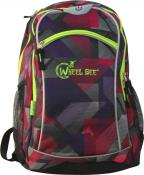 Wheel Bee BACKPACK, Design: Purple, LED-stripes green, Keine Farbe