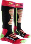 X-SOCKS SKI JUNIOR Coral/Green