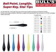 BULL'S Longlife Long 6mm(2BA)& 8mm(1/4BSF) BLAU