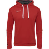hmlAUTHENTIC POLY HOODIE TRUE RED