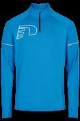 Core Zip Neck Shirt NEW Base Blue