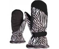 KEM MITTEN lady glove wild zebra print