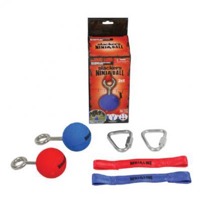 SLACKERS NINJA  - Ball, 2 Stück im Set (rot / blau) Keine Farbe